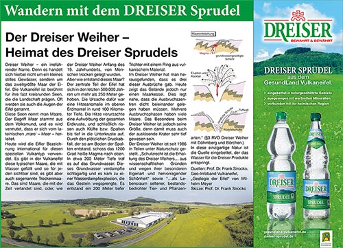 Wandern mit dem DREISER Sprudel - Der Dreiser Weiher