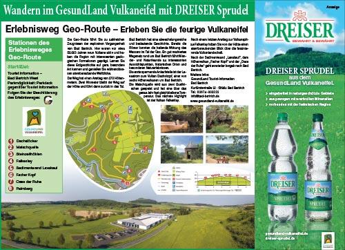 Wandern mit dem DREISER Sprudel - Erlebnisweg Geo-Route
