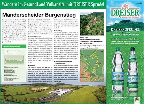 Wandern mit dem DREISER Sprudel - Manderscheider Burgenstieg