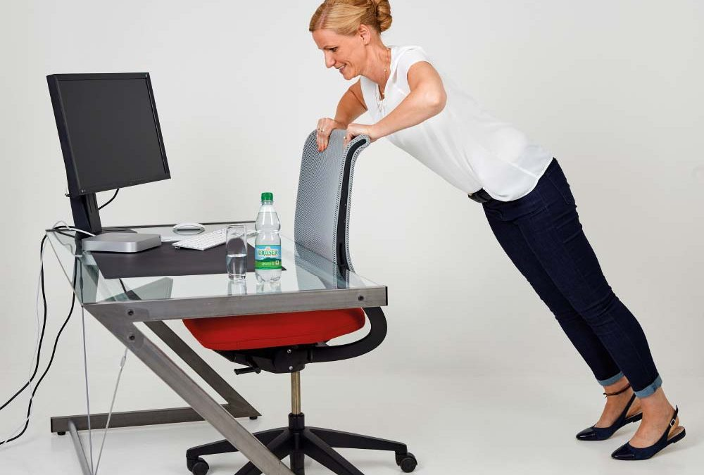 Fit im Büro mit den Gesundland-Experten – Übung 12: Liegestütze